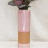 Gerro de ceràmica rosa, fet a mà